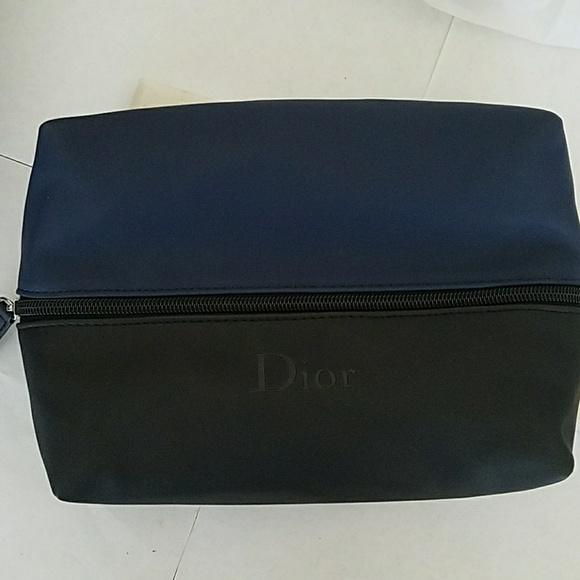 Dior Bags   New Blackblue Zipper Mkup Bag Clutch   Poshmark 7eebf9b0f0